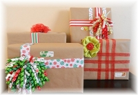 Ribbon Embellished Christmas Packages