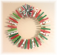 Clothes Pin Christmas Wreath