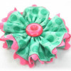 Fabric Flower with Ric Rac Trim