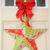 Fabric Mod Podge Christmas Star