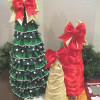 Ruffled Ribbon Christmas Tree