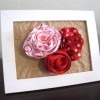 Framed Ribbon Roses