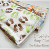 Embellished Burp Cloths