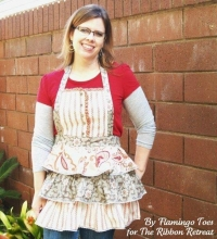 Ruffles and Buttons Apron