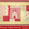 Schoolhouse Table Runner Tutorial