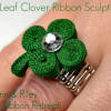 4 Leaf Clover Ribbon Sculpture