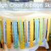 High Chair Ribbon Skirt