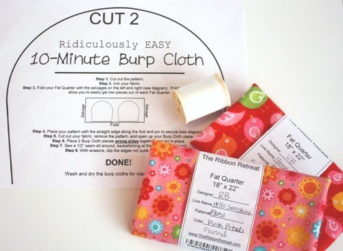 10 Minute Burp Cloth - The Ribbon Retreat Blog
