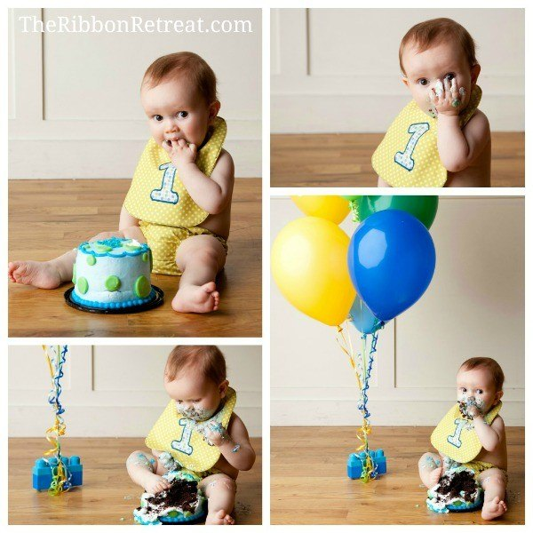 1st Birthday Bib Cake Smash Pictures - The Ribbon Retreat Blog