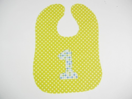 Iron your one onto your bib fabric.