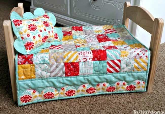 Doll Quilt Tutorial - The Ribbon Retreat Blog : doll quilt patterns - Adamdwight.com