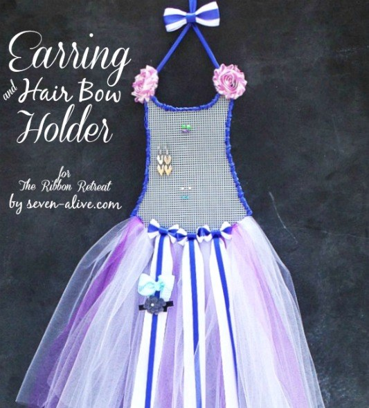 Ballerina Earring and Hair Bow Holder - The Ribbon Retreat Blog