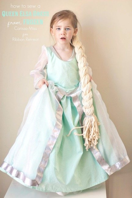 Frozen Inspired Queen Elsa Dress - The Ribbon Retreat Blog