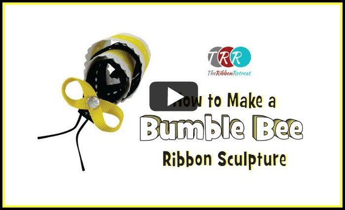 How To Make A Bumble Bee Ribbon Sculpture, YouTube Thursday - The Ribbon Retreat Blog