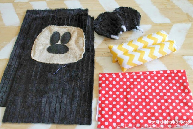 Mickey Mouse Inspired Plush - The Ribbon Retreat Blog
