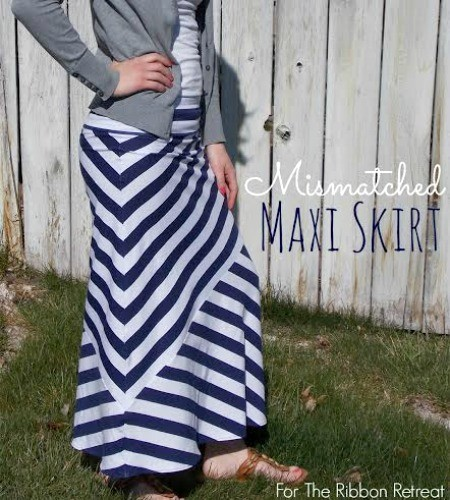 Mismatched Maxi Skirt - The Ribbon Retreat Blog