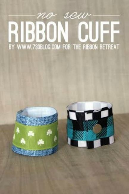 No Sew Ribbon Cuffs - The Ribbon Retreat Blog