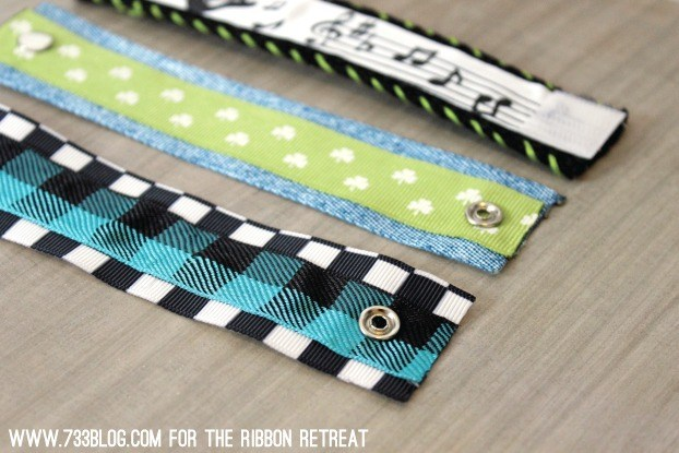 No Sew Ribbon Cuff - The Ribbon Retreat Blog