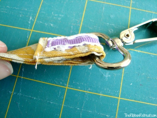 Scrap Ribbon and Fabric Dog Leash - The Ribbon Retreat Blog