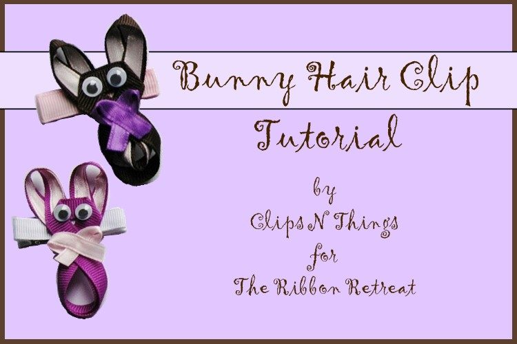 Bunny Hair Clip - The Ribbon Retreat Blog