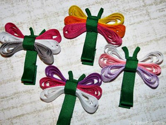 Dragonfly Ribbon Sculptures - The Ribbon Retreat Blog