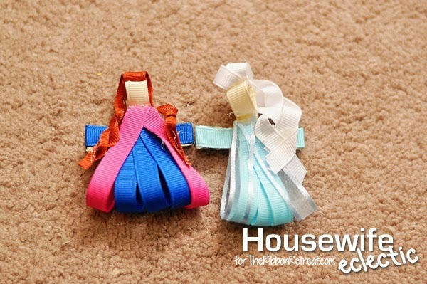 Elsa and Anna Frozen Hair Bows - The Ribbon Retreat Blog