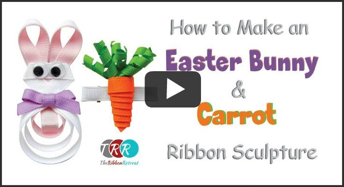 How To Make An Easter Bunny and Carrot Ribbon Sculpture - The Ribbon Retreat Blog