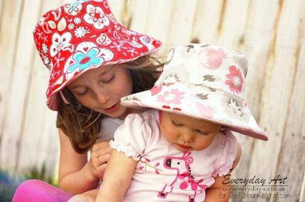 Easy Reversible Summer Hats - The Ribbon Retreat Blog