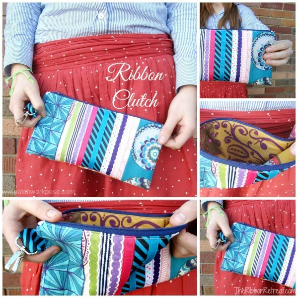 Ribbon Clutch Tutorial - The Ribbon Retreat Blog