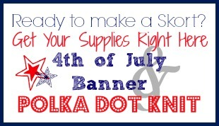 4th of July Banner and Knit Button