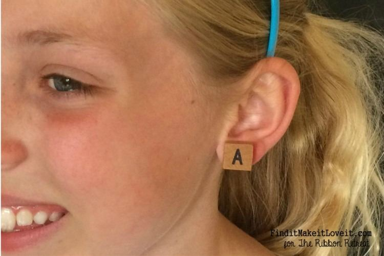 Alphabet Tile Earrings - The Ribbon Retreat Blog