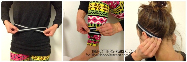 DIY Reflective Running Belt and Headband - The Ribbon Retreat Blog