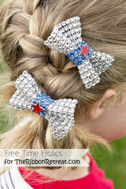 4th of July Diamond Mesh Hair Bows - The Ribbon Retreat Blog
