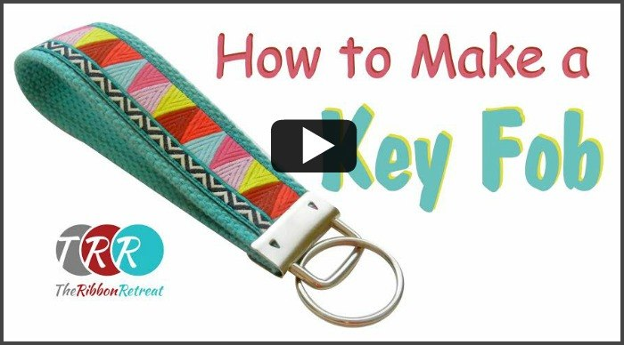 How To Make A Key Fob, YouTube Thursday - The Ribbon Retreat Blog