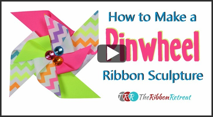 How To Make A Pinwheel Ribbon Sculpture, YouTube Thursday - The Ribbon Retreat Blog