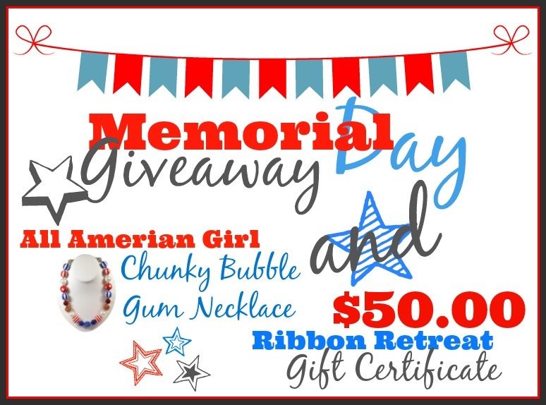 Memorial Day Giveaway - The Ribbon Retreat Blog