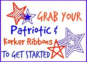 Patriotic and Korker Ribbon Button