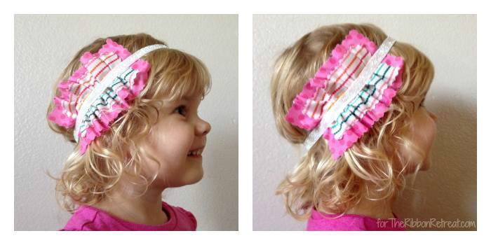 Ruffle Fabric Headband - The Ribbon Retreat Blog