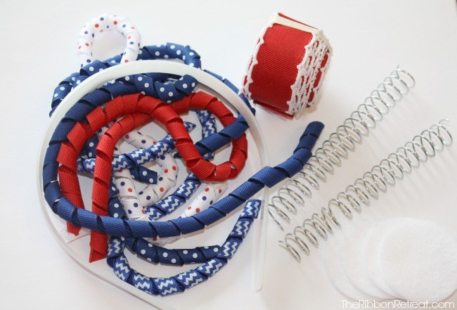 4th of July Ribbon Explosion Antenna Headband - The Ribbon Retreat Blog