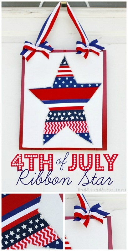 4th of July Ribbon Star - The Ribbon Retreat Blog