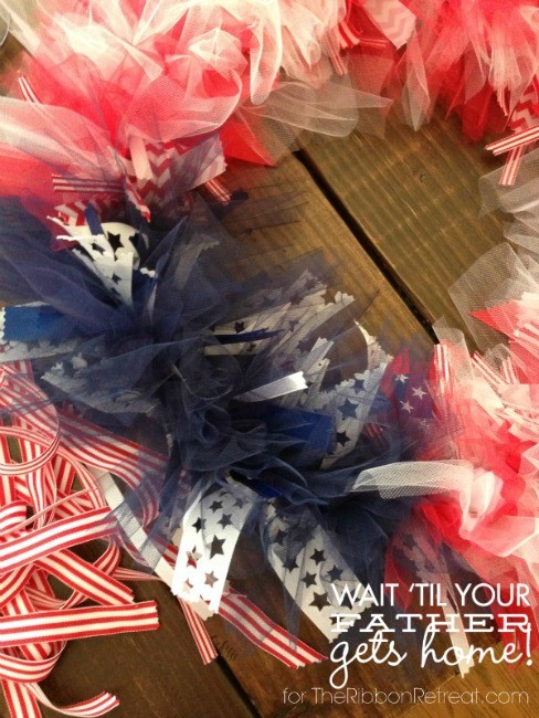 Patriotic Ribbon and Tulle Wreath - The Ribbon Retreat Blog