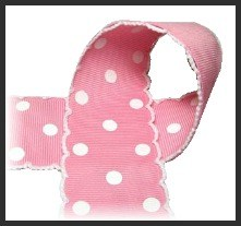 Pink Polka Dot Moonstitch