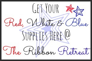 Red, White and Blue Supplies Button