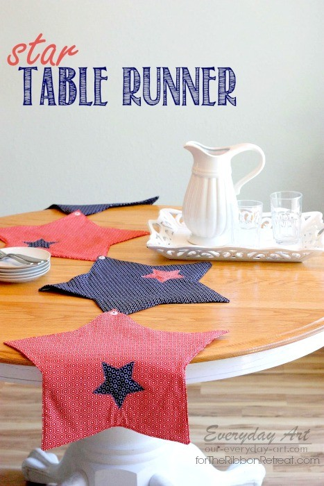 Star Table Runner - The Ribbon Retreat Blog