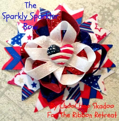 The Sparkly Sparklers Bow - The Ribbon Retreat Blog