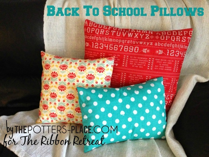 Back To School Pillows Covers - The Ribbon Retreat Blog