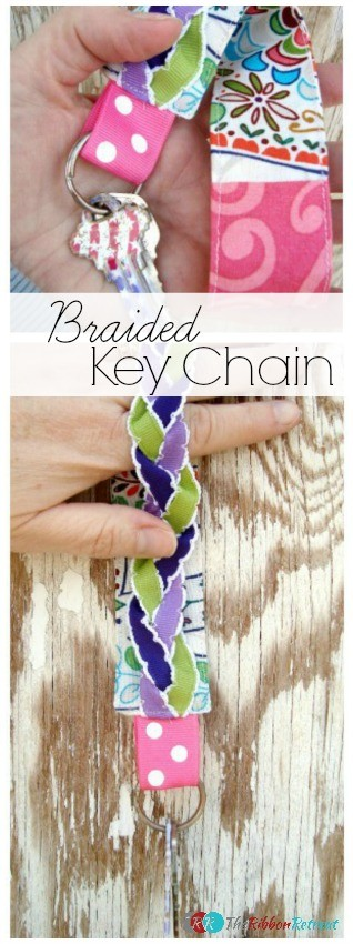 Braided Key Chain - The Ribbon Retreat Blog