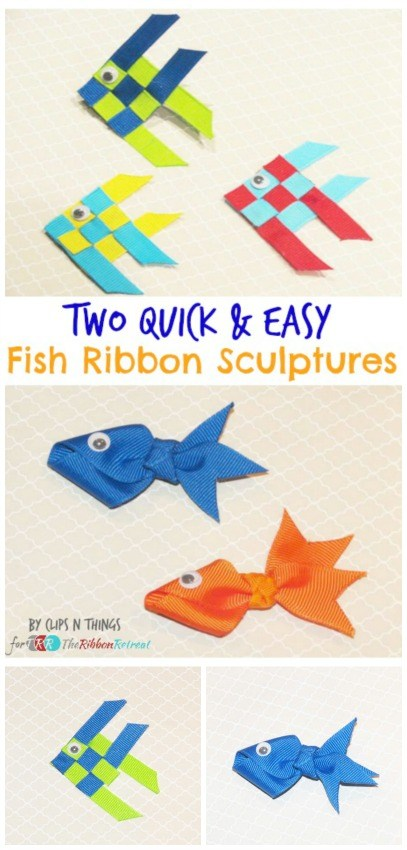 Fish Ribbon Sculptures - The Ribbon Retreat Blog