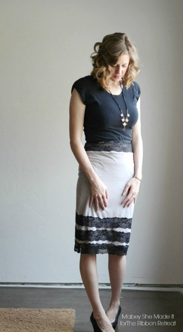 Lovely Lace Knit Pencil Skirt - The Ribbon Retreat Blog