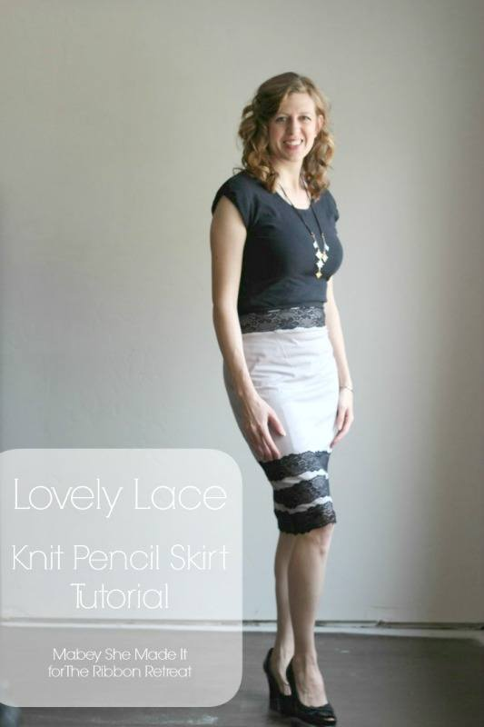 Lovely Lace Knit Pencil Skirt - The Ribbon Retreat Bloga